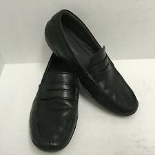 f8d3490b219 Cole Haan Men s MOTOGRAND Penny Loafer Black Leather Driving Shoes Size 11M  GUC