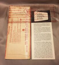 Vintage 1950 RCA Microstick Calibration Calculator