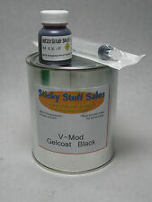 Professional grade Black V-mod gelcoat w/MEKP*Ideal for parts**no wax* 1 Quart