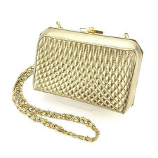 Bally Shoulder bag Gold Woman Authentic Used Y5899