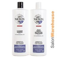 Nioxin System 5 Cleanser 1L & Scalp Revitaliser Litres Duo Latest Release
