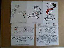 SEMPE / GOSCINNY LOT DE 9 CARTES POSTALES LE PETIT NICOLAS 2008 DOS POSTAL NEUF