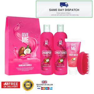 Give Me Hair Mask Bundle- Hair Mask, Shampoo, Conditioner, Brush Gift Set