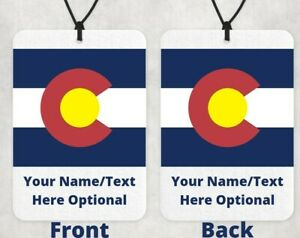 Colorado Car Air Freshener, Comes With 1 Free Scent & Gift 🎁🙂, Personalized