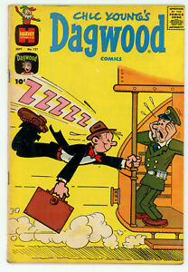 JERRY WEIST ESTATE: CHIC YOUNG'S DAGWOOD COMICS #121 & 124 (Harvey 1961-62) VG