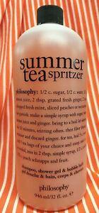 Philosophy SUMMER TEA SPRITZER 3in1 Shampoo Bubble Bath SHOWER GEL 32 oz + PUMP!