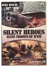 Silent Heroes Elite Troops Of WWII Pc Factory Sealed Retail Box Nice XP