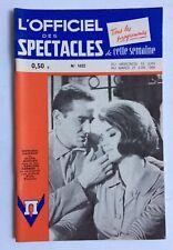 ►L'OFFICIEL DES SPECTACLES 1022/1966 - GASSMAN - KOSCINA - ANN MARGRET