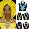 Fashion Color Nigerian Wedding Beads Jewelry Set Dubai Bridal Statement Necklace