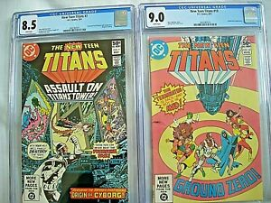 DC NEW TEEN TITANS #7 CGC 8.5 VF+ #10 CGC 9.0 VF/NM White Pages 1981