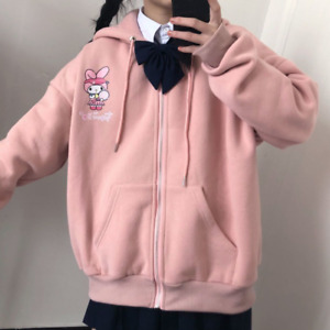 Sanrio Characters Oversized Hoodie Kawaii Kuromi Melody Japanese Cartoon Sweater