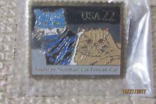 New listing Vintage- Usps American Shorthair & Persian Cats Postage Stamp Pinback Metal Pin