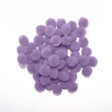 0.5 inch Lavender Tiny Craft Pom Poms 100 Pieces