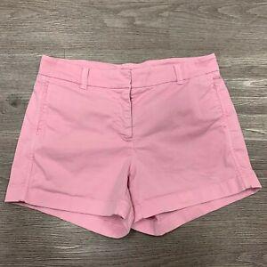 J. Crew Chino Shorts Women's Size 4 Style H5806 Pink 4 Way Stretch Flat Front
