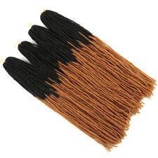"18"" Thin Ombre Sisterlocks Micro Synthetic Dreadlocks Faux Locs Hair Extensions"