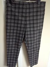 Ladies Green & Grey Check Trousers Size 18 George