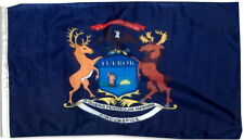 NEW STATE OF MICHIGAN FLAG 3 X 5 FEET BRASS GROMMETS INDOOR OUTDOOR FLAGS BANNER