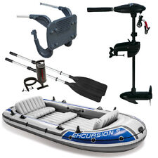 SET INTEX Excursion 5 Schlauchboot Angelboot + Aussenbordmotor + Heckspiegel