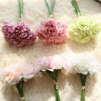 5 Heads 7CM Artificial Peony Silk Flower Bouquet for Wedding Home Party Decor