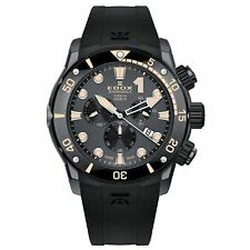 Edox 10234 357GN NINB Men's Sharkman II L.E Black Quartz Watch