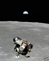 A View of the Apollo 11 Lunar Module Eagle, the Moon and the Earth from Columbia