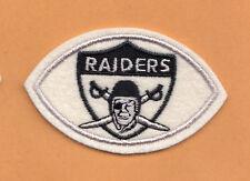 1960's AFL OAKLAND RAIDERS FOOTBALL SHAPE LOGO PATCH UNUSED STOCK LAS VEGAS