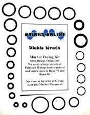 Diablo Wrath Paintball Marker O-ring Oring Kit x 2 rebuilds / kits