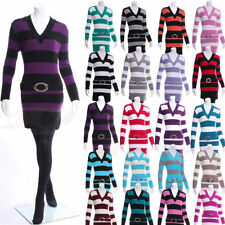 Acrylic Regular Long Striped Jumpers & Cardigans for Women