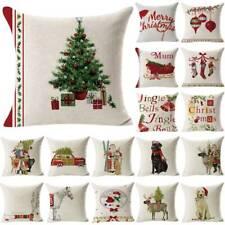 Christmas Pillow Case Santa Sofa Bed Waist Throw Cushions Cover House Decor Xmas