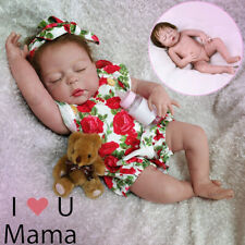 55cm Silicone Handmade Sleeping Toddler Reborn Girl Body Dolls Newborn Baby
