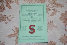 Rare Large Deluxe-Edition Instructions Manual for Singer 66 Sewing Machine
