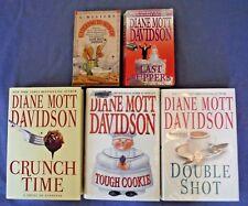 Lot of 5 Diane Mott Davidson Cozy Mysteries Caterer Goldy Schulz 2 PBs 3 HCDJ