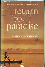 James A. Michener  -  Return To Paradise  1951  1st. Printing - VG/VG+ Tough!