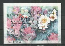 MALAYSIA 2002 RARE FLOWERS MINISHEET SG,MS1056 U/M N/H LOT 7984A