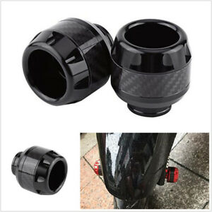 One Pcs Black Aluminum Alloy + Carbon Fiber Motorcycles Front Fork Frame Slider