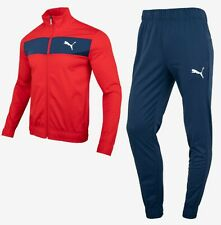 Puma Men Tech Stripe Training Suit Set Red Navy Jacket Pants Jersey 58285811