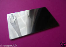 Stainless Steel Credit Card Size Mirror (wallet, makeup, travel, pocket, purse)