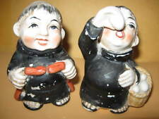 "Two MONKS FIGURINES 3 1/4"" Tall - 7703 stamped on bottom monk figurine"