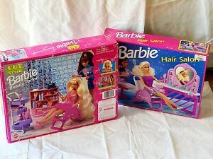 Mattel Barbie Beauty Parlor Cut & Style & Doll Hair Salon Sealed 67183~ 7274 MIB