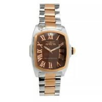 ~SPRING SALE~ Invicta Grand Lupah 35045 Silver/Rose Quartz 47Mm Brown Dial