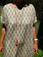 Paper Fig NWT Indian Block Print Shift Dress Sizes 10,12,14,16,18,20,22,24 PLUS