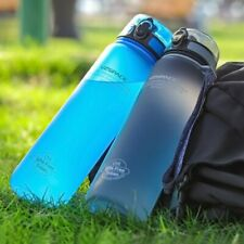 Sports Water Bottle 500/1000ML Protein Shaker Outdoor Travel Portable Leakproof