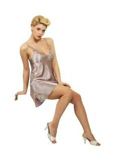 Women Satin and Lace Chemise,, Babydoll,, Slip Dress     European Products