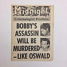 Midnight Magazine Tabloid Newspaper 1968 Bobby Kennedy Lee Harvey Oswald LSD