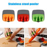 Stainless Steel Sharp Blade Finger Fruit Vegetables Peeler Kitchen Gadget Slicer