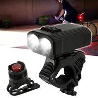 USB Fahrradbeleuchtung Set Fahrrad Licht Fahrad Scheinwerfer LED Fahrradlampe DE