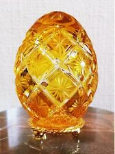 Faberge Imperial Canary Yellow Crystal Egg Limited Edition - Very Rare
