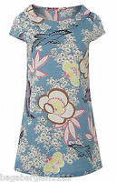New White Stuff Blue Yellow Pink Floral Kimono Blooming Cotton Tunic Top 8 - 18