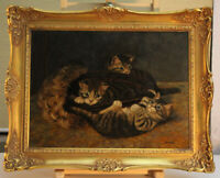 Gabor KETTINGER (*1954) Ölgemälde Junge Katzen