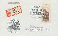 BERLIN 1967 Berliner Kunstschätze 1,10 DM Christus-Johannes-Gruppe; Holzstatue